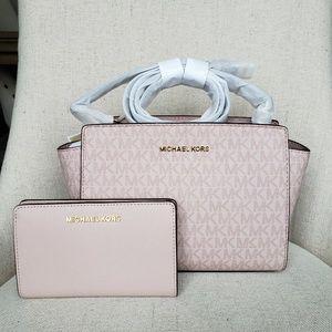 Michael Kors Selma crossbody Bag And Wallet set